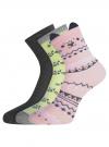 Комплект из трех пар носков oodji #SECTION_NAME# (разноцветный), 57102802-1T3/49668/2 - вид 2
