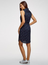 Платье хлопковое на кулиске oodji #SECTION_NAME# (синий), 11901147-5B/42468/7912Q - вид 3