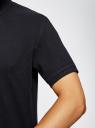 Поло из ткани пике oodji для мужчины (синий), 5B422001M/44032N/7901N