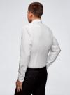Рубашка приталенная в горошек oodji для мужчины (белый), 3B110016M/19370N/1079D - вид 3