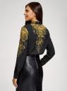 Блузка прямого силуэта с принтом oodji для женщины (черный), 21411112/46204/2994E