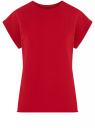 Футболка хлопковая базовая oodji для женщины (красный), 14707001-4B/46154/4500N