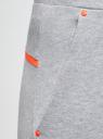 Брюки трикотажные на эластичном поясе oodji #SECTION_NAME# (серый), 16701059B/48302/2000M - вид 4