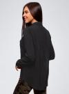 Блузка базовая из вискозы с нагрудными карманами oodji #SECTION_NAME# (черный), 11411127B/42540/2900N - вид 3