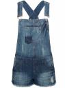 Комбинезон джинсовый с модными потертостями oodji #SECTION_NAME# (синий), 13109056-1/42559/7900W