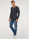 Пуловер удлиненный базовый oodji #SECTION_NAME# (синий), 4B212008M/49683N/7900N - вид 6