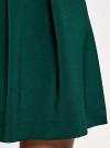 Юбка расклешенная со встречными складками  oodji #SECTION_NAME# (зеленый), 11600396-1/43102/6900N - вид 5