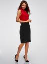 Юбка бархатная прямого силуэта oodji для женщины (черный), 24101048-2B/48621/2900N