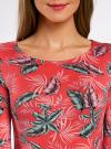 Платье трикотажное облегающее oodji #SECTION_NAME# (красный), 14001121-3B/16300/4366F - вид 4