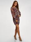 Платье прямого силуэта из струящейся ткани oodji #SECTION_NAME# (коричневый), 11900150-13/13632/3137F - вид 6