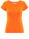 Футболка базовая из хлопка oodji для женщины (оранжевый), 14701008B/46154/5500N