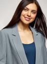 Жакет свободного кроя на пуговице oodji для женщины (зеленый), 11207014/46955/6C00N
