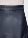 Юбка-колокол из искусственной кожи oodji для женщины (синий), 28H00002/42008/7900N