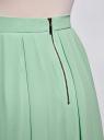 Юбка со складками из струящейся ткани oodji #SECTION_NAME# (зеленый), 21600285-2B/17358/6500N - вид 5