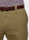 Брюки-чиносы с ремнем oodji #SECTION_NAME# (зеленый), 2B150022M/25735N/3300N - вид 4