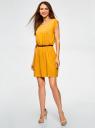 Платье вискозное без рукавов oodji #SECTION_NAME# (желтый), 11910073B/26346/5200N - вид 6