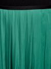 Юбка в складку с запахом oodji #SECTION_NAME# (зеленый), 13G00003B/42662/6D00N - вид 4