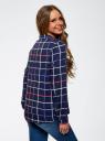 Блузка принтованная из вискозы oodji для женщины (синий), 11411098-1/46336/7919C