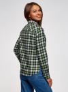 Рубашка клетчатая с нагрудными карманами oodji #SECTION_NAME# (зеленый), 13L00001-2/48869/6230C - вид 3
