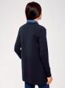 Кардиган трикотажный без застежки oodji #SECTION_NAME# (синий), 19201004B/48033/7900N - вид 3