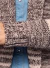 Кардиган полосатый с капюшоном oodji для женщины (розовый), 63205244/46133/4A37S - вид 5