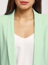 Жакет без застежки с рукавом 3/4 oodji #SECTION_NAME# (зеленый), 11207010-2B/18600/6500N - вид 4