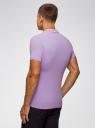 Поло из ткани пике oodji #SECTION_NAME# (фиолетовый), 5B422001M/44032N/8000N - вид 3