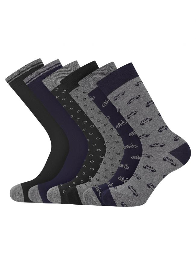 Комплект из шести пар носков oodji #SECTION_NAME# (черный), 7O263003T6/47469/2979J