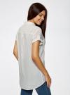 Блузка из вискозы с нагрудными карманами oodji #SECTION_NAME# (слоновая кость), 11400391-3B/24681/1200N - вид 3