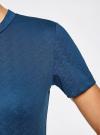 Платье облегающего силуэта на молнии oodji #SECTION_NAME# (синий), 14011025/42588/7901N - вид 5