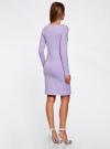 Платье трикотажное облегающего силуэта oodji для женщины (фиолетовый), 14001183B/46148/8000N - вид 3