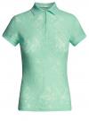 Поло из фактурной ткани с вышивкой oodji #SECTION_NAME# (зеленый), 19301006/46656/6500O