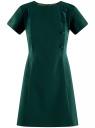 Платье с коротким рукавом и декором из пуговиц oodji для женщины (зеленый), 11902152/38253/6E00N