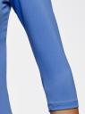Футболка базовая с рукавом 3/4 oodji #SECTION_NAME# (синий), 24211001B/45297/7500N - вид 5