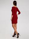 Платье трикотажное базовое oodji #SECTION_NAME# (красный), 14001071-2B/46148/4900N - вид 3