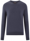 Пуловер базовый с V-образным вырезом oodji #SECTION_NAME# (синий), 4B212007M-1/34390N/7902M