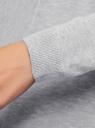 Кардиган вязаный без застежки oodji для женщины (серый), 73212398B/45904/2300M