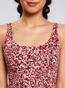 Платье-майка трикотажное oodji #SECTION_NAME# (розовый), 14015007-3B/37809/4110F - вид 4