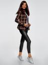 Джинсы байкерские со вставкой из искусственной кожи oodji для женщины (черный), 12106149/47015/2900W