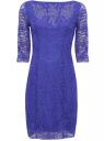 Трикотажное платье oodji для женщины (синий), 24011006/22472/7500N