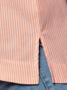 Рубашка свободного силуэта с асимметричным низом oodji #SECTION_NAME# (розовый), 13K11002/45387/1054S - вид 5