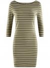 Платье трикотажное базовое oodji для женщины (зеленый), 14001071-2B/46148/6630S