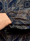 Платье из шифона с ремнем oodji для женщины (синий), 11900150-5/13632/7933E - вид 5