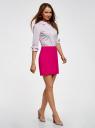 Юбка короткая базовая oodji для женщины (розовый), 11600399-1B/14917/4700N