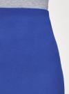 Юбка-трапеция короткая oodji #SECTION_NAME# (синий), 11600413-2/43703/7500N - вид 4