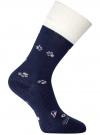 Носки махровые с отворотом oodji #SECTION_NAME# (синий), 57102449-1/46590/7912P