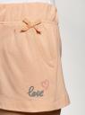 Шорты хлопковые с надписью oodji для женщины (розовый), 59807049/47969/5400P