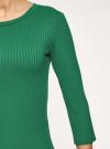 Платье в рубчик с рукавом 3/4 oodji #SECTION_NAME# (зеленый), 14001196/46412/6E00N - вид 5