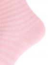 Комплект хлопковых носков в полоску (3 пары) oodji #SECTION_NAME# (розовый), 57102813T3/48022/5 - вид 4