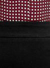 Юбка прямая с декоративными молниями oodji #SECTION_NAME# (черный), 11602180/31291/2900N - вид 4